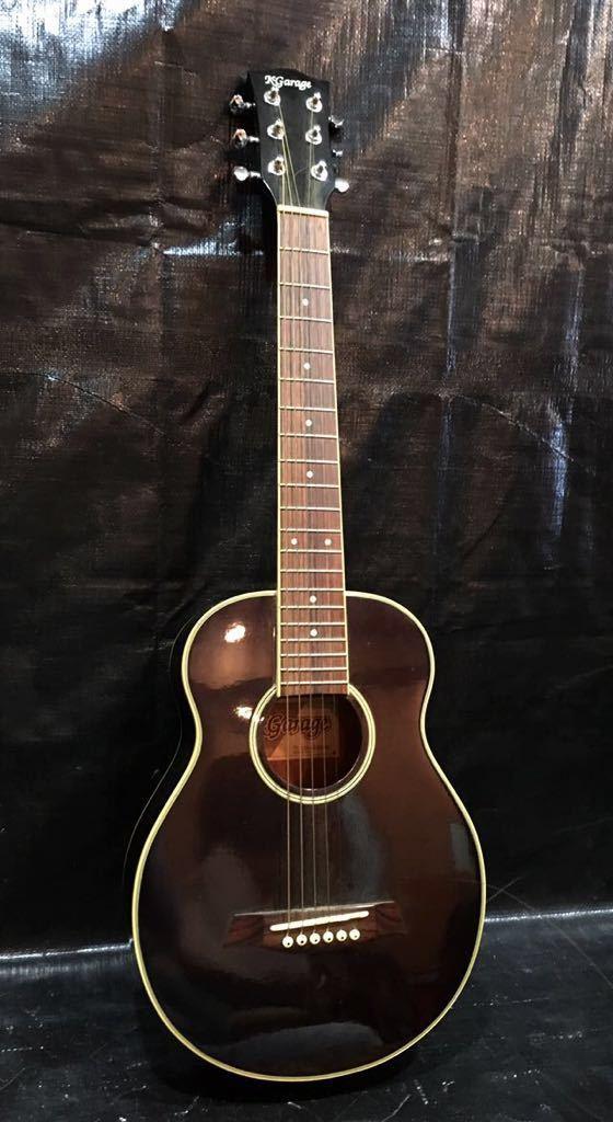 e16 必見 ! 中古品 現状品 KGarage CD-M180TBK アコースティックギター ケーガレージ 弦楽器 ケース付き !