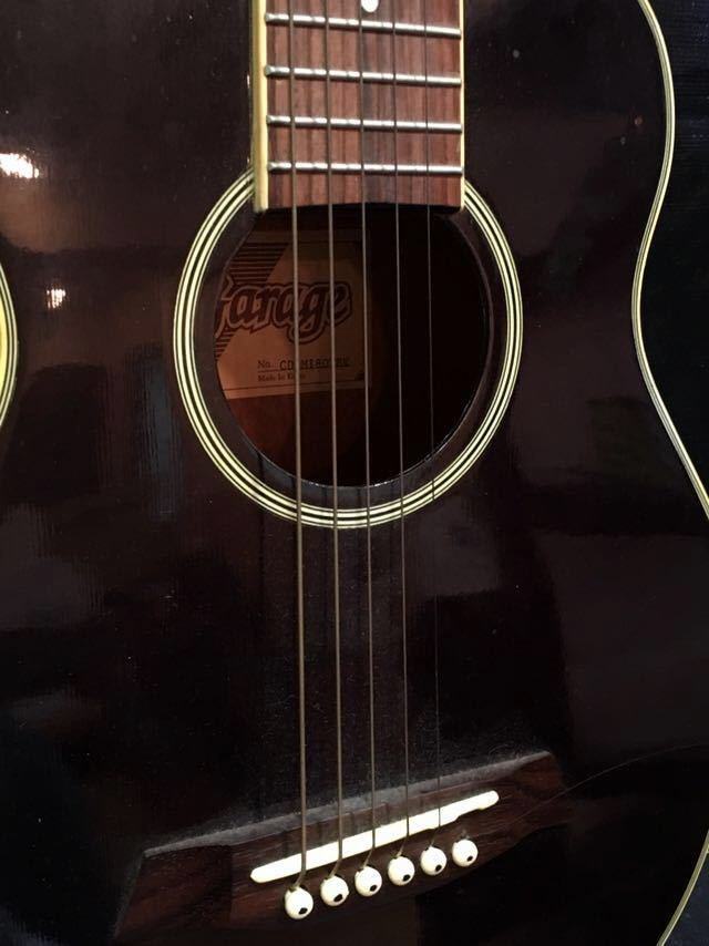 e16 必見 ! 中古品 現状品 KGarage CD-M180TBK アコースティックギター ケーガレージ 弦楽器 ケース付き !_画像6