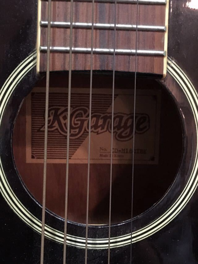 e16 必見 ! 中古品 現状品 KGarage CD-M180TBK アコースティックギター ケーガレージ 弦楽器 ケース付き !_画像5