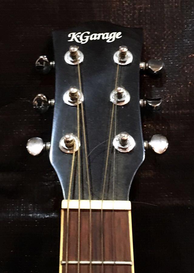 e16 必見 ! 中古品 現状品 KGarage CD-M180TBK アコースティックギター ケーガレージ 弦楽器 ケース付き !_画像3