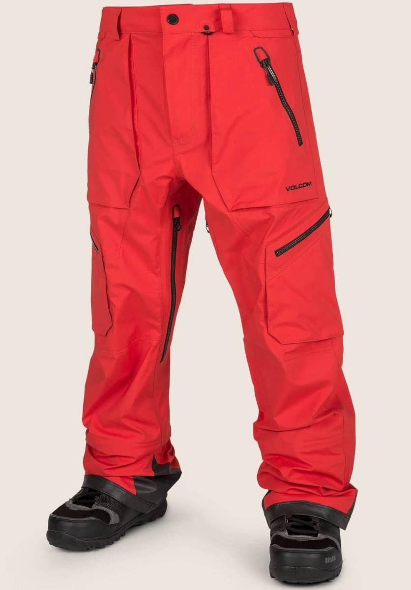 VOLCOM / Guch Stretch Gore-Tex Pant / Fire Red / M 【auction by polvere_di_neve】
