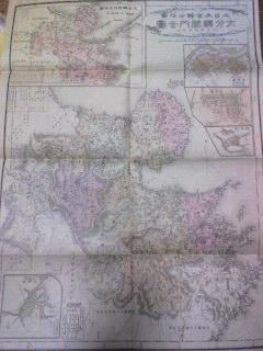 明治39年大日本管轄分地図「大分県」大分町/中津町/臼杵町市街図_画像1