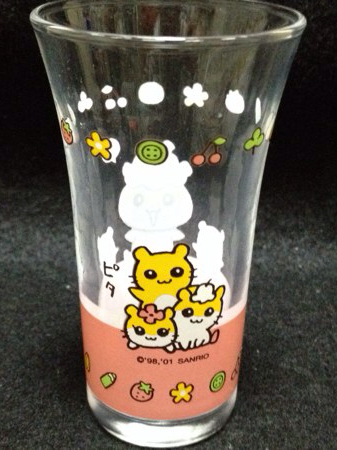 コロコロクリリン サンリオ 2001年 一口グラス コップ ハムスター_画像2