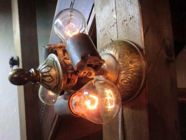 USA1930アンティーク3灯照明♪スチームパンク超インダストリアル_画像3