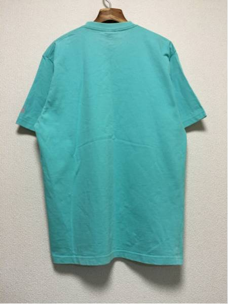 [即決古着]WHOLENINE/ホールナイン/だまし絵Tシャツ/半袖/ネックレス/ラインストーン/水色/XL2