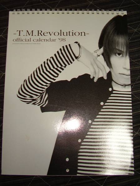 T.M.Revolution☆ファンクラブ限定カレンダー98年用♪西川貴教 ライブグッズの画像
