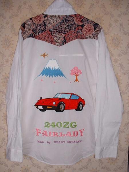 *240ZG刺繍スカシャツ!白!L!スカジャン!難あり_画像1