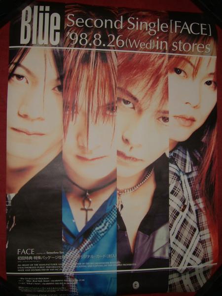 【ポスターH11】 Blue FACE 非売品!筒代不要!