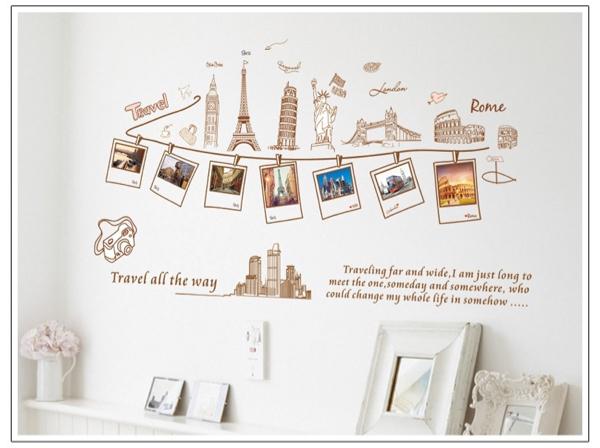 ウォールステッカー 写真 フレーム 風景 壁デコ 壁シール 壁紙_画像1
