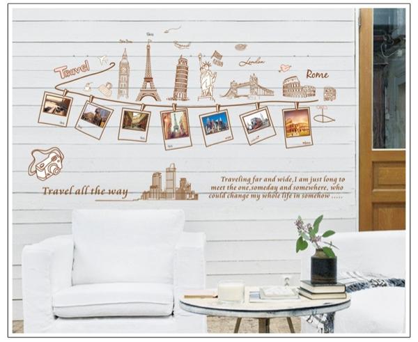 ウォールステッカー 写真 フレーム 風景 壁デコ 壁シール 壁紙_画像2