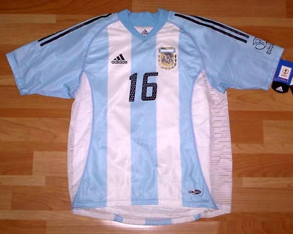 02W杯 アルゼンチン(H)#16アイマル AIMAR 選手用半袖 M
