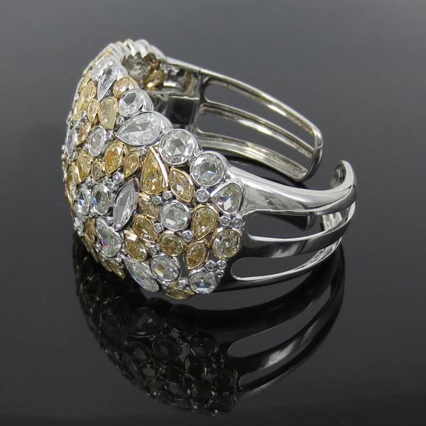 新品《19ctダイヤモンドFG/VS》18Kハンドメイド・カフバングル_画像2
