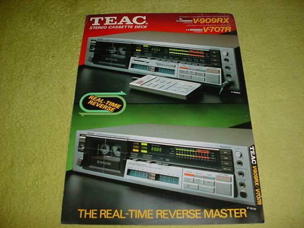 即決!1983年2月 TEAC V-909RX V-707Rのカタログ