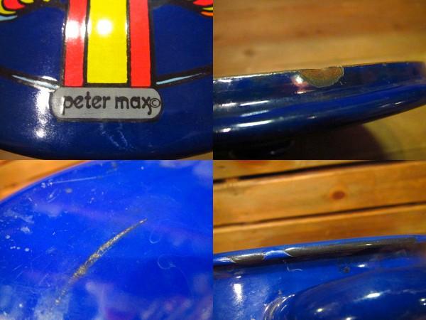 ビンテージ70's★Peter Maxホーロー鍋青★ピーターマックス食器_画像3