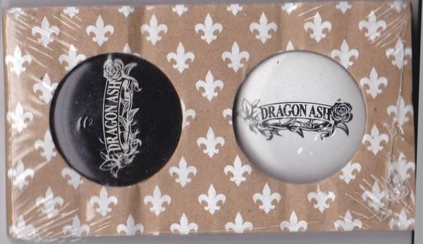 Dragon Ash缶バッジ白黒2個セット[検索]降谷建志缶バッチIKUZONE ライブグッズの画像