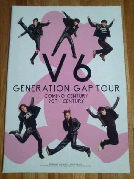 V6 GENERATION GAP TOUR パンフレット 公認グッズ 美品