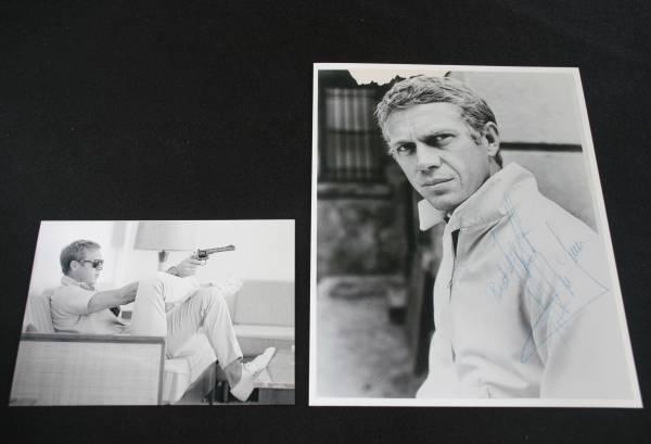 スティーブ・マックイーン サイン フォト他、サイン集と写真1枚