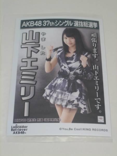 未開封AKB48 ラブラドールレトリバー劇場盤 生写真 山下エミリー