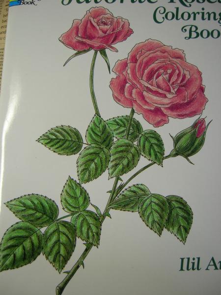 ヤフオク 即洋書大人の塗り絵バラ 45p薔薇ロー