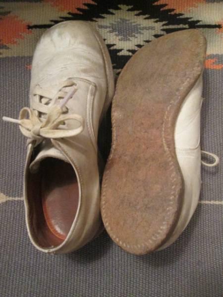 OLD◆アメリカアンティーク ビンテージ子供レザーシューズ革靴/50's60'sブロカント蚤の市古着USAアドバタイジング _画像3