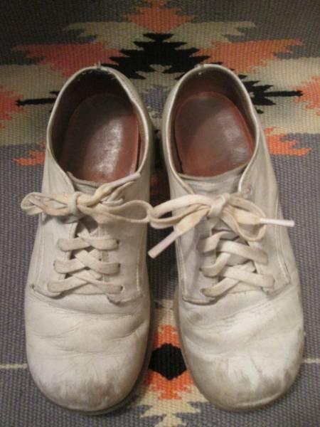 OLD◆アメリカアンティーク ビンテージ子供レザーシューズ革靴/50's60'sブロカント蚤の市古着USAアドバタイジング _画像2