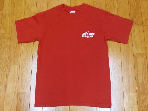 【 ギターウルフ 】2002ツアー プリントTシャツ 赤