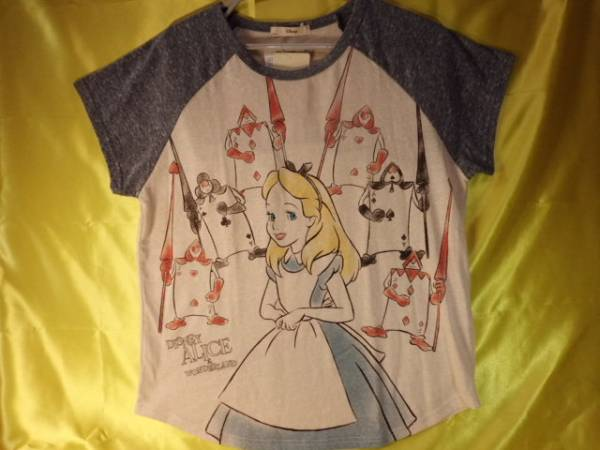 @☆アリス ディズニー ラグラン Tシャツ (L寸)♪新品 ★211 ディズニーグッズの画像