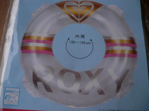 即決☆新品未使用☆かわいい! ROXY ロキシー 大きい浮き輪 100cm大人用うきわ ウキワ☆☆☆_画像1