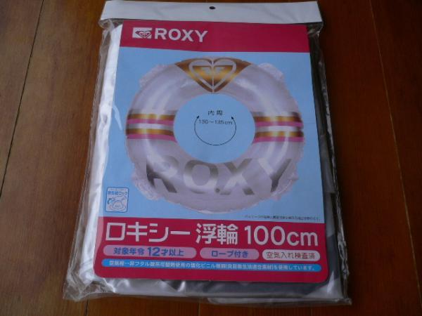 即決☆新品未使用☆かわいい! ROXY ロキシー 大きい浮き輪 100cm大人用うきわ ウキワ☆☆☆_画像2