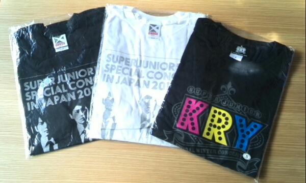 SUPER JUNIOR-K.R.Y. Tシャツ3枚セット!