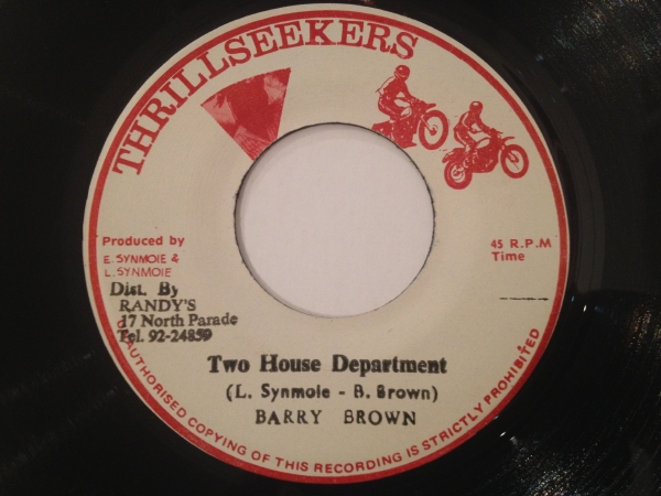 ◆Barry Brown/Two House Department◆KILLER ROOTS!TAKE FIVE
