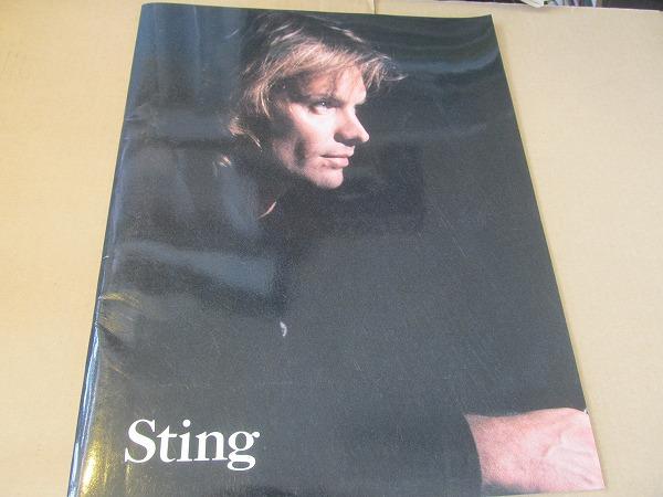 Stingスティングnothing like the sun ツアーパンフ 1987-1988