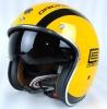 T57 内蔵式サングラス パイロットヘルメット 全6色 黄 M