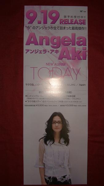 【ポスター】 アンジェラ・アキ/TODAY 非売品!筒代不要!