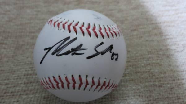 日米野球 エンゼルス シューメイカー 直筆サインボール