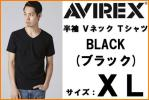 new goods AVIREX Avirex short sleeves V neck T-shirt black XL black new goods Avirex DAILY S/S V-NECK T-SHIRT