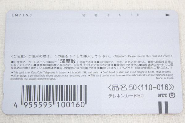 未使用 ★ ダヤン テレカ No.63 わちふぃーるど テレホンカード_画像2