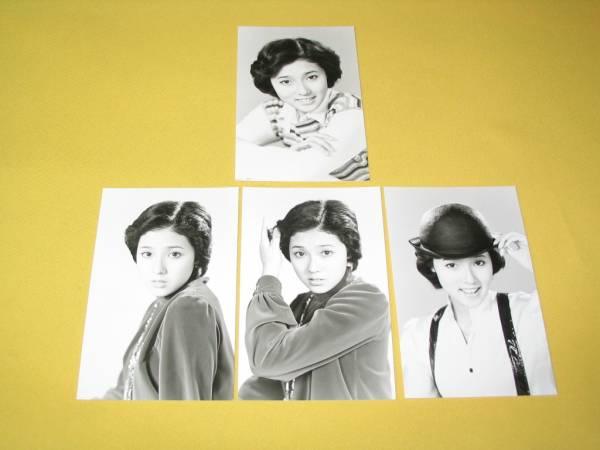 浅野ゆうこのブロマイド4枚組。マルベル堂。1975年頃。良品
