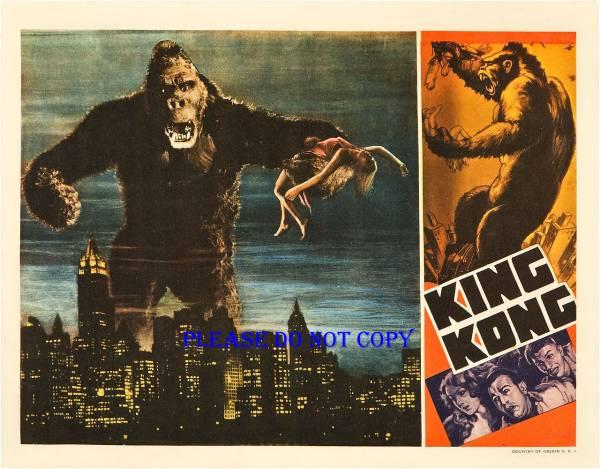 1933年(昭和8年) 映画『キング・コング』USロビーカード2枚組