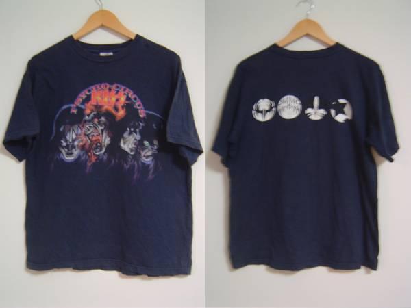 ♪90sビンテージKISSキッスTシャツUSA製ネイビーLゾンビ アニメ グッズの画像