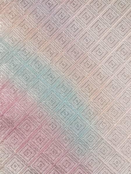 【山中織物】幾何にぼかし文 佐賀錦 西陣織 袋帯 TADL02003風楽_画像3