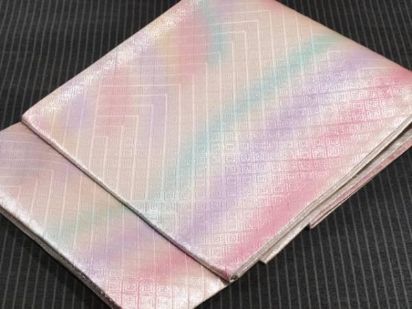 【山中織物】幾何にぼかし文 佐賀錦 西陣織 袋帯 TADL02003風楽_画像1