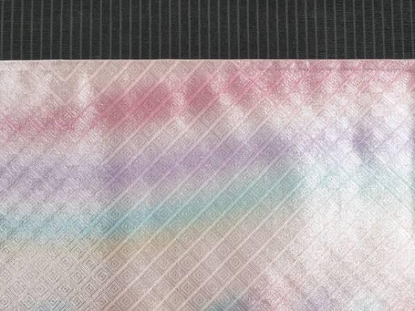 【山中織物】幾何にぼかし文 佐賀錦 西陣織 袋帯 TADL02003風楽_画像2
