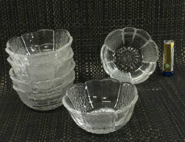 ★新品6個セット【即決】ガラス鉢 7.7cm小鉢 松花堂弁当にも_画像1