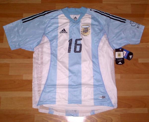 02W杯 アルゼンチン(H)#16 アイマル AIMAR 選手用半袖 adidas正規 2002WC仕様 XL