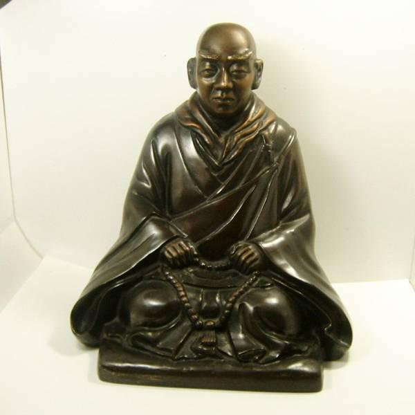 銅像 僧侶 仏教_画像1