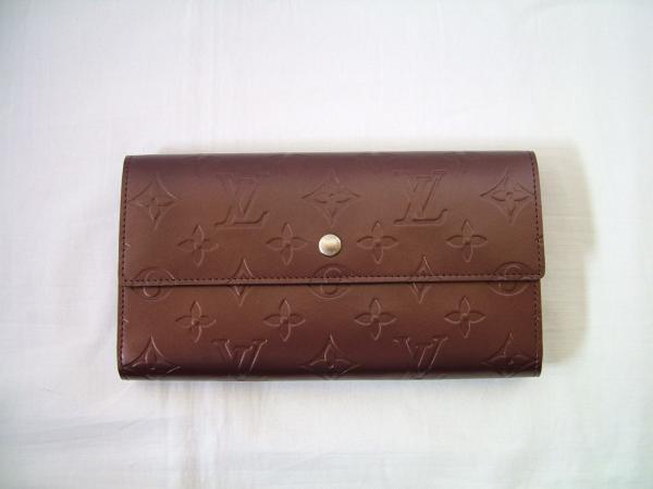 ◆【本物・美品】ヴィトンモノグラムマット 3つ折り長財布