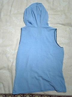 ノースリーブニットパーカー青水色_画像3