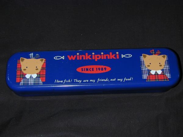 1991年製のウィンキーピンキーの缶ペンケース(サンリオ) グッズの画像