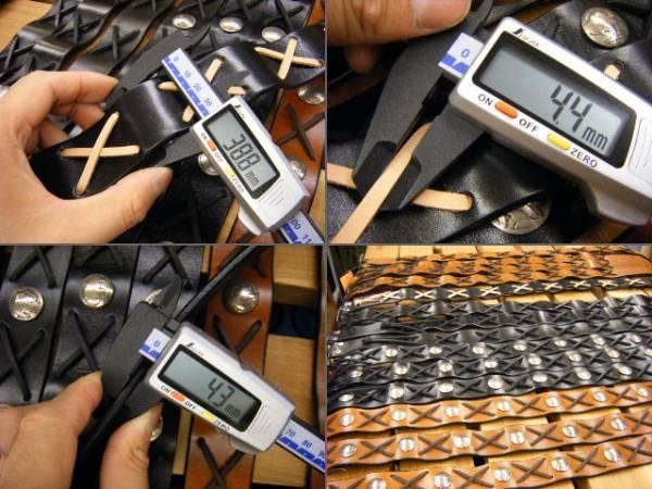 当店オリジナル製作レッドムーン風ベルト新品[黒×ヌメXL]送料無_革幅・革厚・革ヒモ幅は、ご覧の通りです!